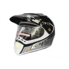 Кроссовый шлем (мотард) Нelmo Monster CR-188 черно-белый, размер L