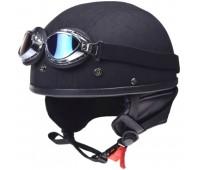 Мотокаска ретро с очками Awina AIX-018, размер М