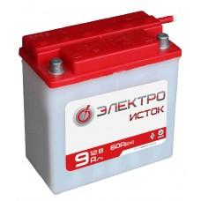 Аккумулятор мото 12в 9А  6МТС-9  ЭлектроИсток (Иж/Мт)