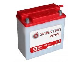 Мото аккумулятор 12В 9А  6МТС-9  ЭлектроИсток (Иж/Мт)