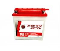 Мото аккумулятор 6В 18А   3МТС-18  ЭлектроИсток (Иж/Мт)