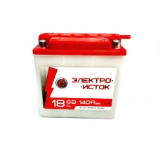 Мото аккумулятор 6v 18а 3МТС-18  ЭлектроИсток (Иж/Мт)