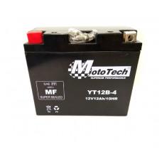 Мото аккумулятор 12v12a клемы коробка YT12B-4 MotoTech