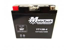 Мото аккумулятор гелевый  12В 12А  клемы коробка YT12B-4 MotoTech
