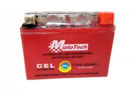 Аккумулятор на скутер 12v4a  клем коробка  YTX4L-BS(GEL) MotoTech