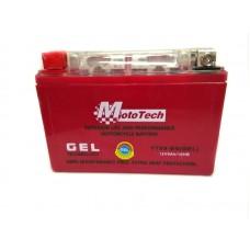 Мотоаккумулятор 12В9А   клем коробка YTX9-BS(GEL) MotoTech