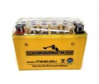 Гелевый аккумулятор  12v9a  клем коробка YTX9-BS(GEL) Kurosawa (МotoТech)