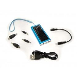 Универсальная мобильная батарея Solar 1350mAH 5.5 V голубой