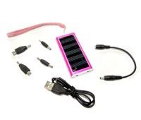 Універсальна мобільна батарея Solar 1350mAH 5.5 V малиновий