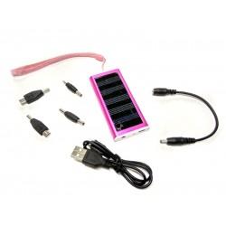 Универсальная мобильная батарея Solar 1350mAH 5.5 V малиновый