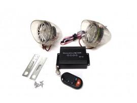 Аудиосистема с сигнализацией 938 прозрачная с диодами (плеер,радио,колонки)