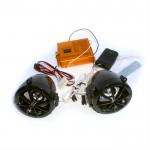 Аудиосистема на скутер с сигнализацией FR чёрная (плеер,FMрадио,колонки)