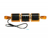 Аудиосистема с Bluetooth и ЖК-дисплеем, крепление на руль, золото (MT-487)