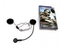 Мотогарнитура для шлема BT Headset (круглый микрофон)