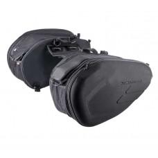 Мотосумки боковые  текстильные Komine SA-212, чёрные (к-т 2 штуки)