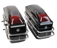 Бічні кофри для мотоцикла пластикові, чорні (к-т 2 штуки)