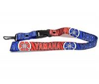 Шнурок на шею для ключей Yamaha, красно-синий