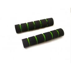 Неопреновие гріпси гальма / зчеплення, чорно-зеленого кольору (к-т 2 шт)