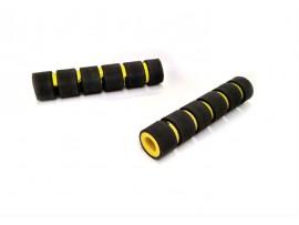 Неопреновие гріпси гальма / зчеплення, чорно-жовтого кольору (к-т 2 шт)