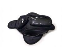 Сумка на бак мотоцикла Alpinestars (с магнитами), черная