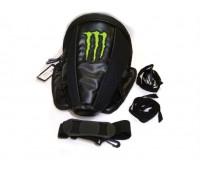 Сумка  на хвост мотоцикла Monster Energy, черная