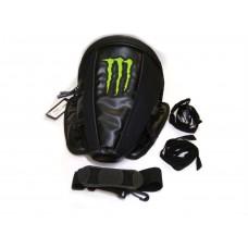 Сумка  на хвост мотоцикла   Монстр  , черная