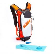 Мото рюкзак KTM с гидратором, черно-белый-оранжевый
