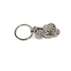 Брелок для ключей - фонарик Спортбайк, хромированный