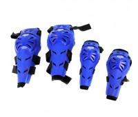 Наколенники и налокотники мото FOX (подвижные) синие