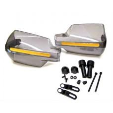 Защита рук на руль черная, с желтой светоотражающей полосой (к-т 2 шт)