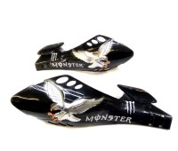 Защита рук на руль   Монстр  орёл черный (№3)