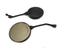 Мото зеркала 10 мм на мотоцикл Ява круглые, черные