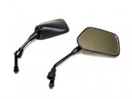 Зеркала на мотоцикл пятиугольные, черные JH-90, (резьба 10мм)