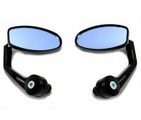 Зеркала в руль мотоцикла черные овальные