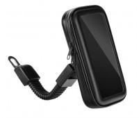 Держатель смартфона с влагозащитой и креплением на ножку зеркала, XL (105х185х30мм)