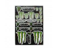 """Наклейки на скутер  """"  Монстр  """"  5991 (лист А3)"""
