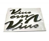 Наклейка на скутер Yamaha Vino силиконовая (к-т 3 штуки)