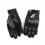 Мотоперчатки кожаные черные Alpinestars, L (со вставками)