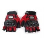 Мотоперчатки Pro-Biker без пальцев красные, размер XL (MCS-04)