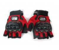 Мотоперчатки Pro-Biker без пальцев красные, размер L (MCS-04)