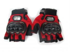 Мотоперчатки Pro-Biker без пальцев красные, размер M (MCS-04)