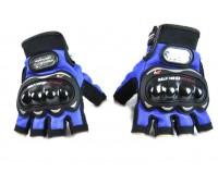 Мотоперчатки Pro-Biker без пальцев синие, L (MCS-04)
