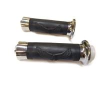 """Ручки руля  на мотоцикл XL-23 прорезиненные черные с наконечником """"олова орла"""""""