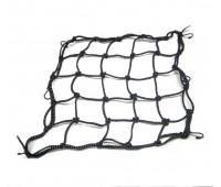 Мото сетка паук 35 * 35 см, черная светоотражающая