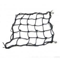 Мото сітка павук 35 * 35 см, чорна світловідбиваюча
