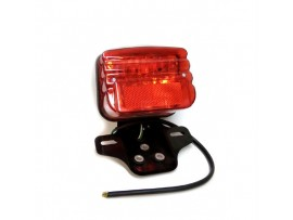 Стоп на мотоцикл прямоугольный черный, красное стекло CG 125-2