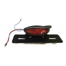 Стоп ліхтар доданий чорний, червоне скло (001)
