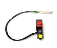 Кнопка включения + стартера на руль 22 мм (с хомутом)