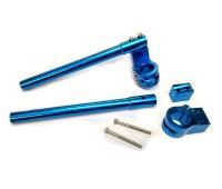 Клипоны руля с разборным крепежом синие