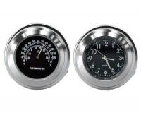 Часы и термометр для мотоцикла (водонепроницаемые, ударопрочные)